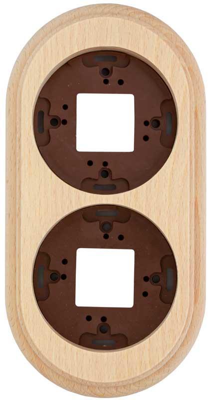 Wood Frame For 2 Element, Natural Wood