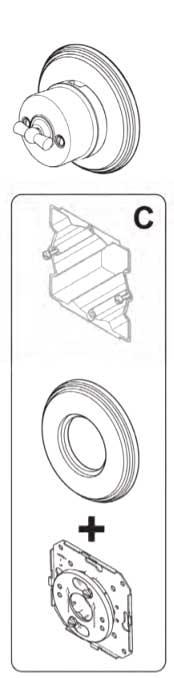 Adapter Garby Colonial ram för utanpåliggande montering, utan platta - gammaldags inredning - klassisk stil - retro -sekelskifte
