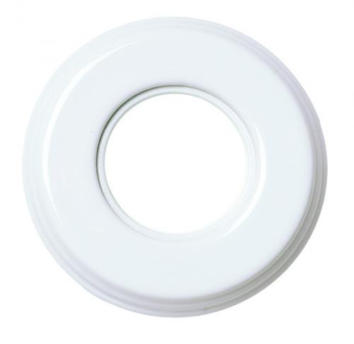 Ram vit porslin - 1 hål Garby Colonial