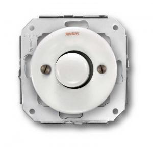Gc-Dimmer Switch (Two-Way) 40-500W  230V Porcelain-White Porcelain - old style - vintage style - classic interior - retro