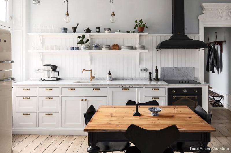 Ram vit porslin - 2 hål Garby Colonial - gammaldags inredning - klassisk stil - retro - sekelskifte