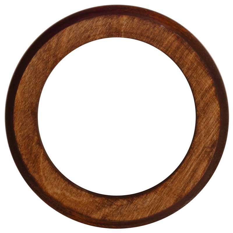 Brun treplate uten snorespor - arvestykke - gammeldags dekor - klassisk stil - retro - sekelskifte
