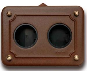 Metal box for surface mounting - Aged Metal