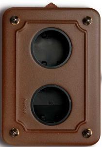 Metallbox utanpåliggande - Antikbrun vertikal - gammaldags inredning - klassisk stil - retro - sekelskifte