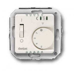Floor heating thermostat with sensor cable - white