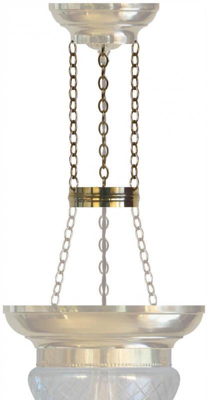 Bowl Pendant Extension - 25 cm brass