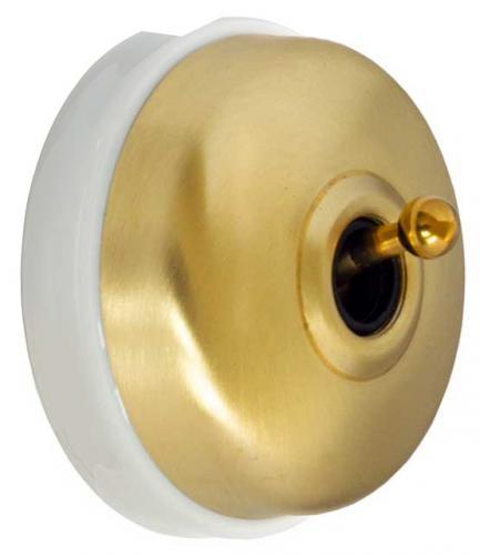 Toggle pushbutton - Untreated brass