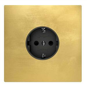 Outlet brass - Single square