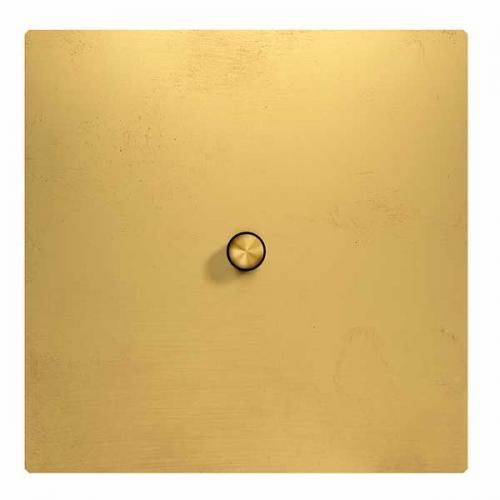 Lysbryter firkant messing - Spenstig trykknapp