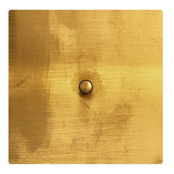 Switch square brass - push botton