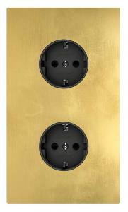 Outlet - Double brass