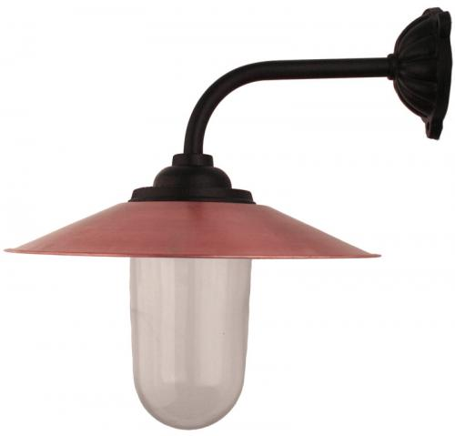 Exterior Lamp - Stable lamp 90° short, copper shade