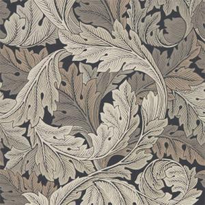 William Morris & Co. Tapet - Acanthus Charcoal/Grey - gammaldags tapet med blad