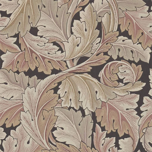 William Morris & Co. Tapet - Acanthus Terracotta - gammaldags tapet med blad