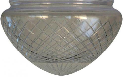 Ampel glass - 200 mm Cut clear glass