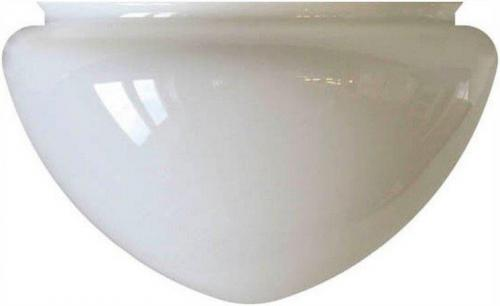 Ampel glass - 300 mm Opal white - old style - vintage style - classic interior - retro