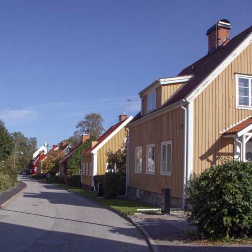 Villakvarter Trädgårdsstaden Äppelviken Stockholm
