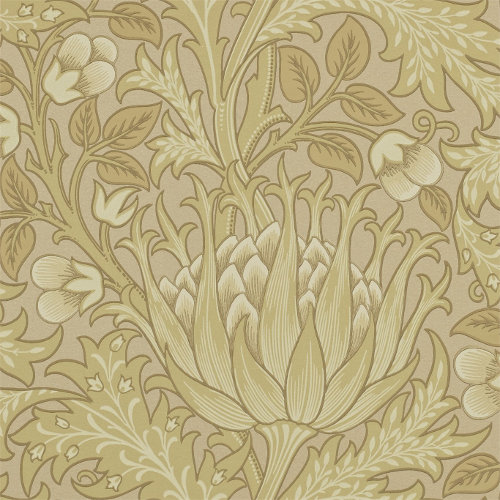 William Morris & Co. Wallpaper - Artichoke Loam - old fashioned style - vintage interior - retro