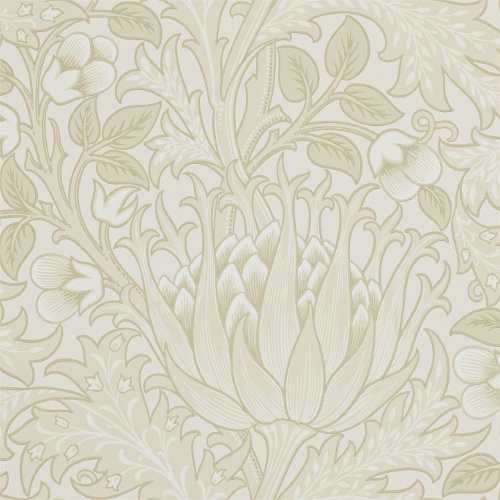 William Morris & Co. Wallpaper - Artichoke Vellum - old fashioned style - vintage interior - retro