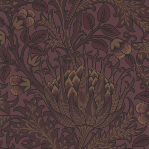 William Morris & Co. Wallpaper - Artichoke Wine - old fashioned style - vintage interior - retro