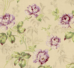 Lim Handtryck Wallpaper Belle Epoque Beigegreenlilac Old Style