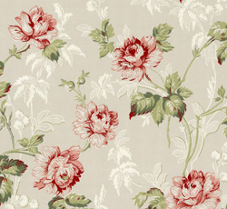 Wallpaper - Belle Epoque grey/green/red/white