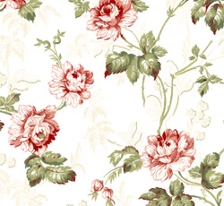 Wallpaper - Belle Epoque white/green/red/glimmer