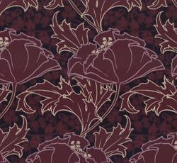 Wallpaper - Berlin burgundy/purple