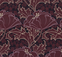 Wallpaper - Berlin burgundy/purple