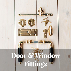Old style door fittings window fittings