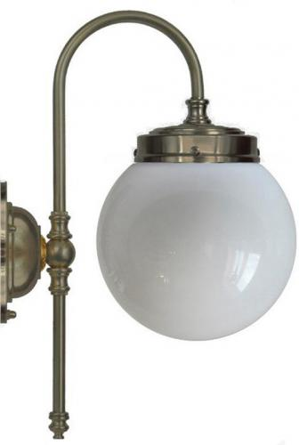 Bathroom Lamp - Blomberg 80 antique, white globe