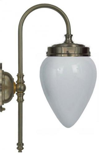 Bathroom Lamp - Blomberg 80 Antique brass opal white shade