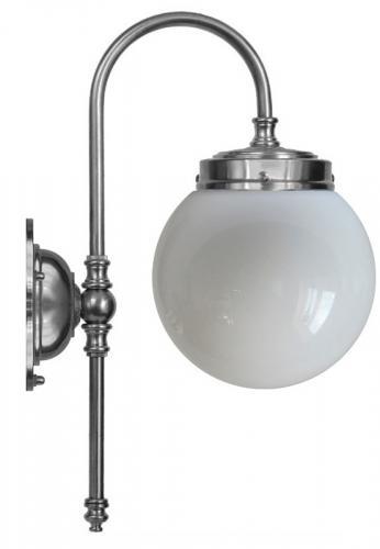 Baderomslampe - Blomberg 80 forniklet globelampe