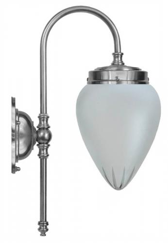 Bathroom Lamp - Blomberg 80 nickel frosted drop glass