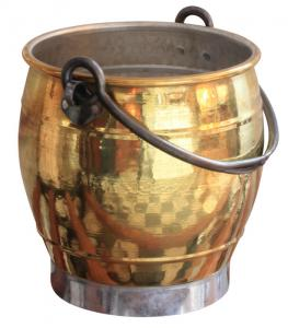 Flower pot brass - Fire bucket - old style - vintage interior - old fashioned style