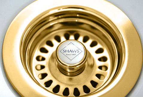 Sink basket strainer - Shaws gold