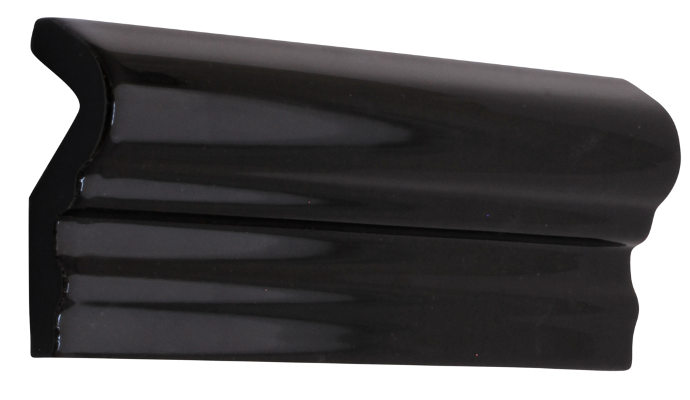 Tile molding Victoria - 5 x 15 cm black, glossy