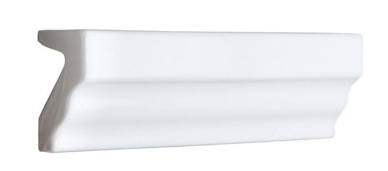 Tile Victoria - Tile molding 3,5 x 15 cm white, glossy
