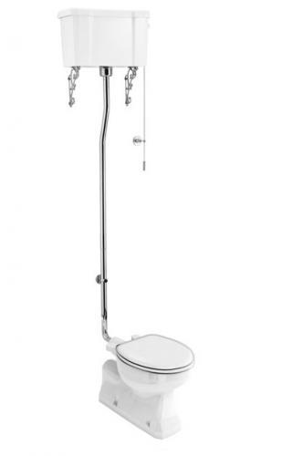 Högspolande WC, Sverige-anpassad, S-lås, porslinscistern, normal höjd
