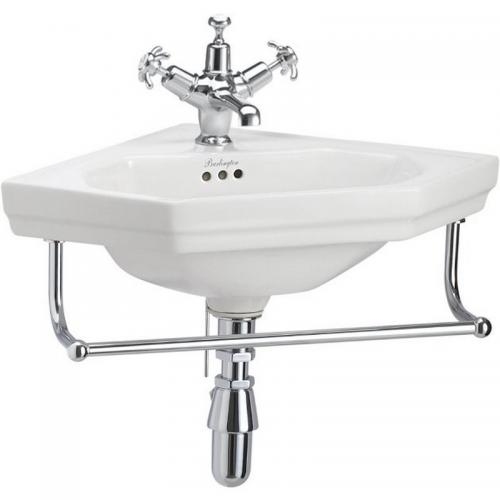 Wash basin - Burlington corner basin with towel rack - old fashioned style - vintage interior - classic style - retro