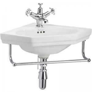 Wash basin - Burlington corner basin with towel rack