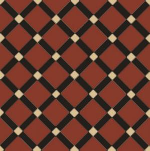 Canterbury - Victorian floor tiles - red/black/cognac