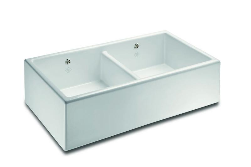 Kitchen Sink Porcelain - Shaws Classic Shaker Double 900