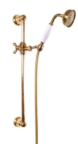 Brass Shower Rail - Classic 60 cm with handset and hose