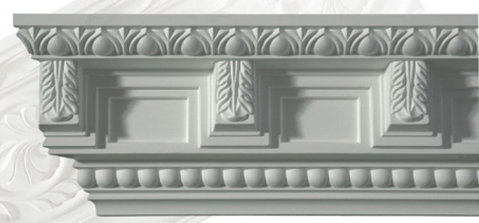 Cornice molding - CN-3075 - old fashioned style - classic interior - retro - vintage style