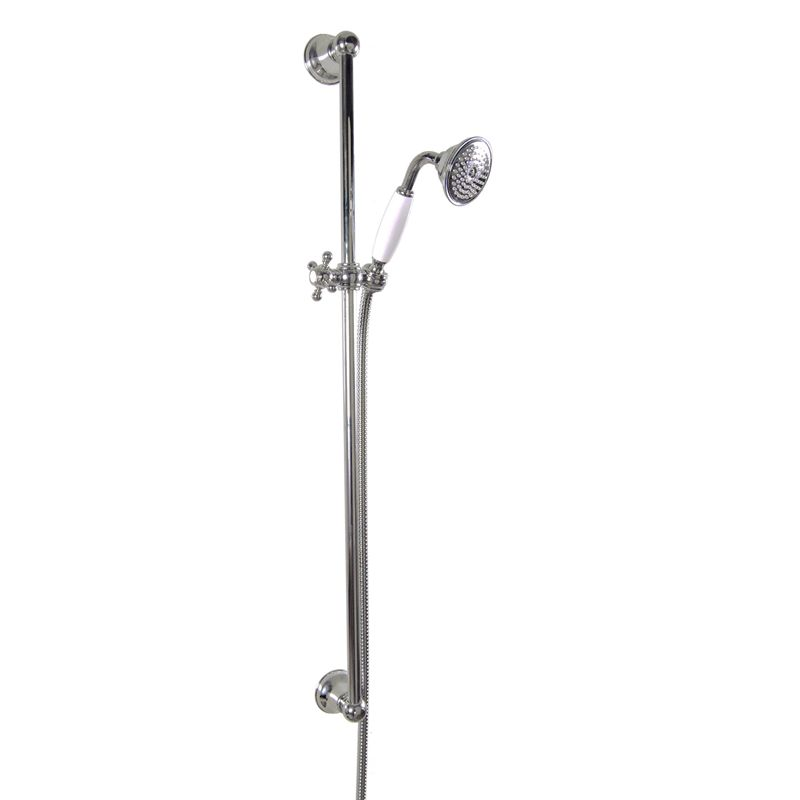 Shower Rail - Colonial 90 cm with handset or hose - Classic style