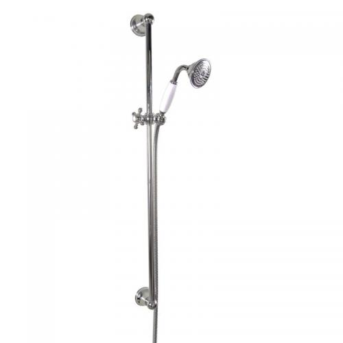 Shower Rail - Colonial 90 cm with handset and hose - old fashioned style - vintage style - retro - classic style
