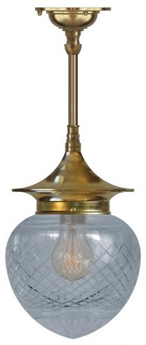 Ceiling Lamp - Dahlberg pendant 100 brass, drop shade