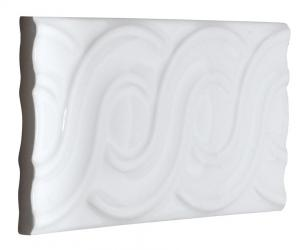 Tile Victoria - Decorative loops 7.5 x 15 cm white, glossy