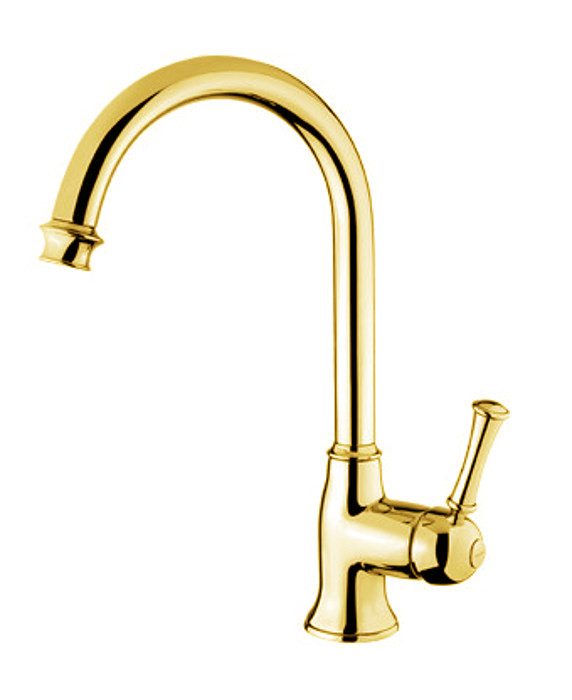 Kitchen Mixer Denver Gooseneck Brass Classic Old Style Kitchen Faucet